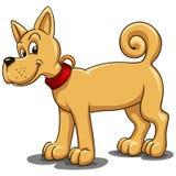 Малая красная собака с красным воротником в стиле шаржа бесплатная иллюстрация