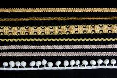 Малая линия lacework золота Стоковая Фотография RF