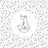 Малая лиса на поле Стоковая Фотография