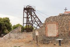Малая покинутая шахта в Греции Стоковые Изображения