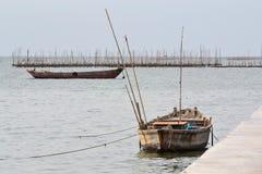Малая рыбацкая лодка Стоковое Фото