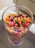 Малая слащавая конфета желейных бобов как отбензинивание стоковая фотография