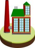 Малая фабрика иллюстрация вектора