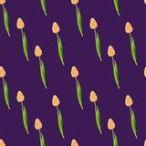 Малая флористическая картина тюльпанов безшовная иллюстрация штока