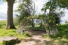 Малая хата вербы Стоковое Фото