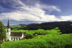 Малая церковь в Gonten в Швейцарии Стоковая Фотография RF