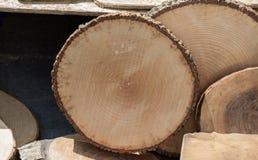 Малая часть отрезанных деревянных журналов Стоковое Изображение