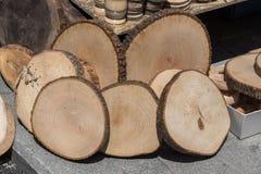 Малая часть отрезанных деревянных журналов Стоковые Изображения RF
