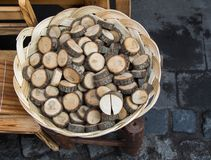 Малая часть отрезанных деревянных журналов Стоковые Изображения
