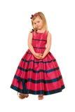 Маленькая белокурая девушка в длиннем платье стоковые изображения rf