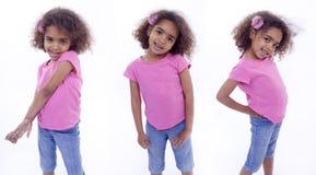 Маленькая девочка в различных представлениях Стоковые Изображения
