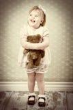 Маленькая девочка год сбора винограда Стоковые Изображения