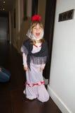 Маленькая девочка замаскированная как chulapa Мадрида Стоковое фото RF
