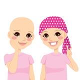 Маленькая девочка с Cancer иллюстрация штока
