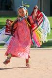 Маленькая девочка - Powwow коренного американца Стоковые Фото