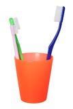 маленькая зубная щетка папы Стоковое Изображение RF