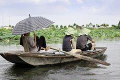 Маленькая лодка Азия на реке Таиланде Стоковые Фото