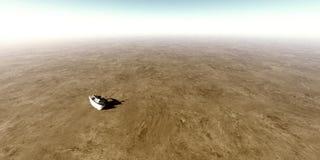 Маленькая лодка вставленная в пустыне Стоковая Фотография