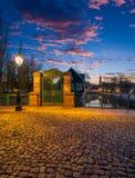 Маленькая область Франции в страсбурге стоковое фото rf