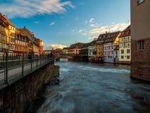 Маленькая область Франции в страсбурге стоковая фотография