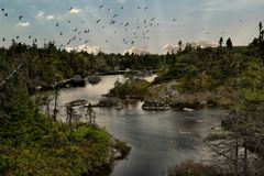 Маленькая панорама озера солдат Стоковое фото RF