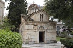 Маленькая церковь метрополии Афина стоковое фото rf