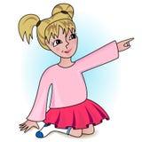 Маленькая девочка шаржа вектора Стоковые Изображения