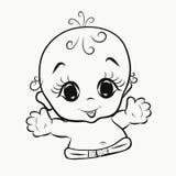 Маленькие жизнерадостные ребенок, детство и утеха бесплатная иллюстрация