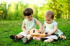маленькие музыканты Стоковая Фотография