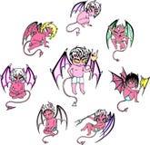 Маленькие шаржи дьявола Стоковое Изображение RF
