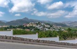 Маленький город в горах Стоковое Фото