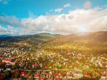Маленький город в сельской местности Стоковые Фотографии RF