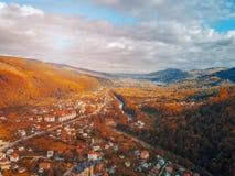 Маленький город в сельской местности Стоковое Изображение RF