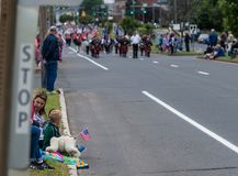 Маленький город парада Дня памяти погибших в войнах Манчестера Стоковое фото RF
