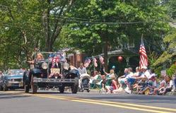 Маленький город парада 4-ое июля Стоковое фото RF