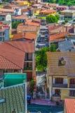 Маленький город увиденный сверху Стоковые Фотографии RF