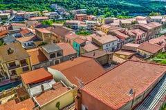 Маленький город увиденный сверху Стоковое Изображение RF