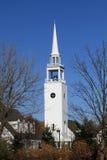 маленький город midwest церков типичный Стоковая Фотография