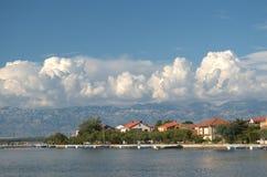 Маленький город Nin Хорватии Стоковые Изображения
