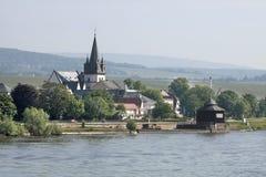 Маленький город Oestrich-Winkel Стоковая Фотография