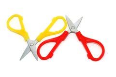 маленький красный желтый цвет ножниц Стоковые Изображения