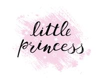Маленький младенец принцессы помечая буквами цитату, детей конструирует бесплатная иллюстрация