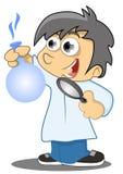 Маленький научный работник иллюстрация штока