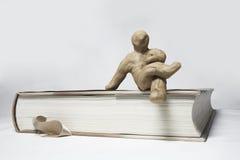 маленький пластилин людей стоковое изображение rf