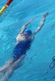 маленький пловец под водой Стоковые Изображения RF