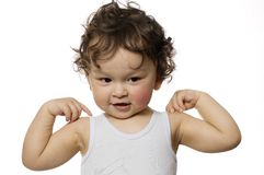 маленький спортсмен Стоковая Фотография
