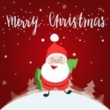 Маленький счастливый персонаж из мультфильма Санта Клауса Стоковое Фото