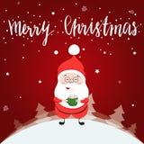 Маленький счастливый персонаж из мультфильма Санта Клауса Стоковое Изображение