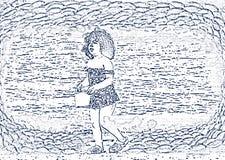Маленький фантазер около моря Стоковые Фото