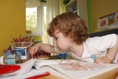 Маленький художник стоковое изображение rf